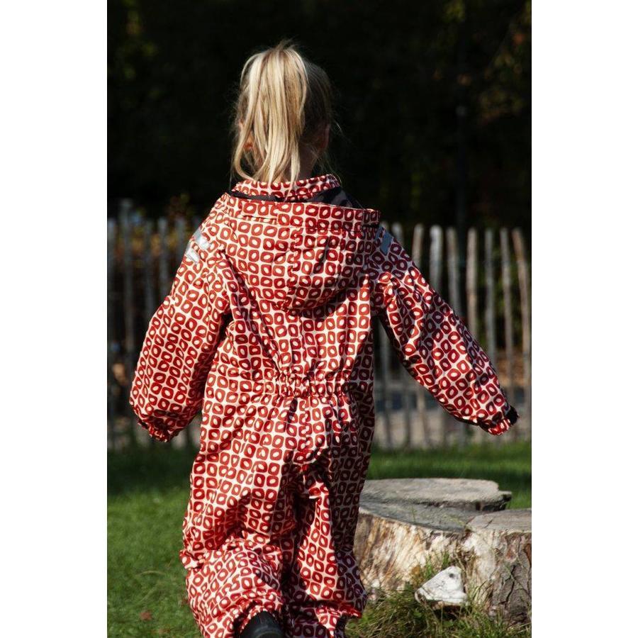 Durable children's rain suit Funky Red| 74-116-1