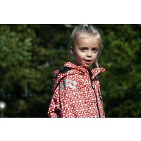 thumb-Durable children's rain suit Funky Red| 74-116-4