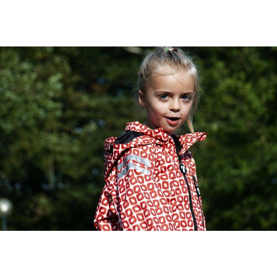 Durable children's rain suit Funky Red| 74-116-4