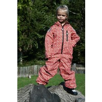 thumb-Durable children's rain suit Funky Red| 74-116-5
