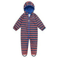 thumb-Lined, durable rain suit ECOSPLASH, in red with blue stripes-3