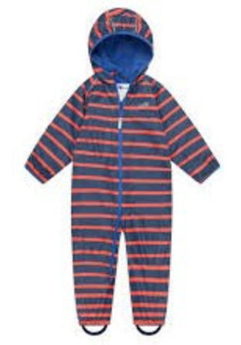 MP buitenkleding EcoSplash lined durable rain suit in red with blue stripes