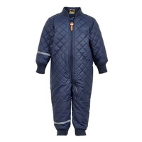 thumb-Water-repellent children's thermal coverall dark blue-1