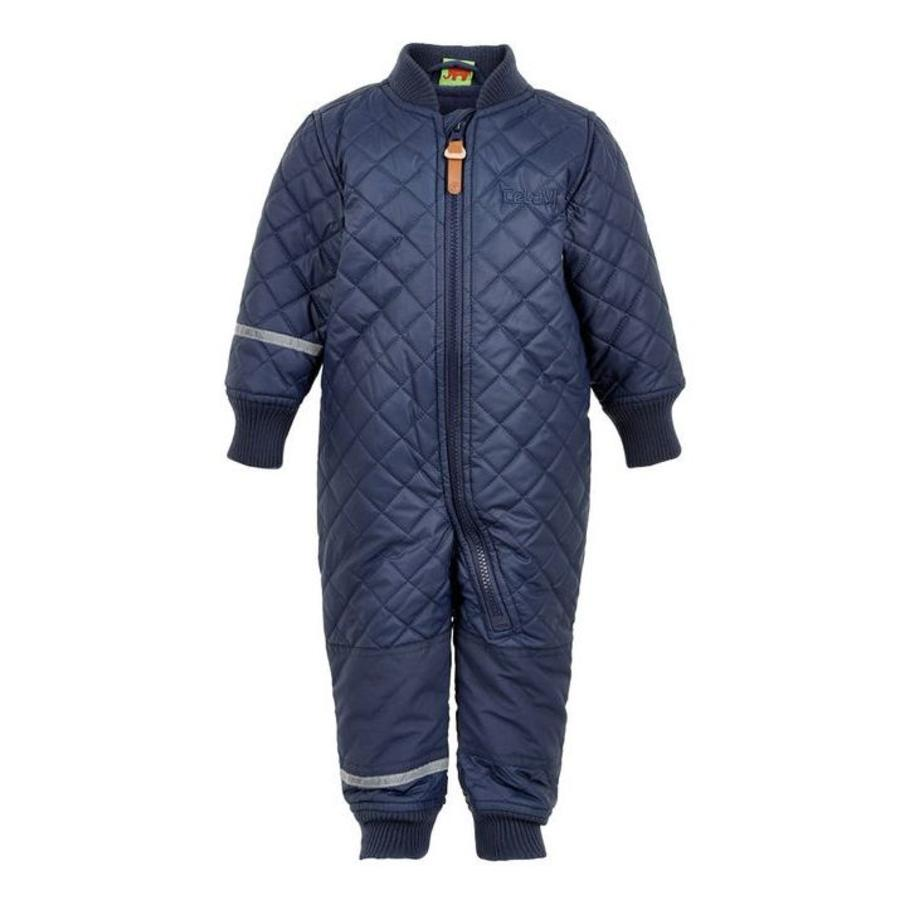 Water-repellent children's thermal coverall dark blue-1