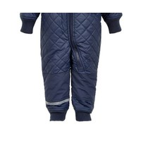 thumb-Water-repellent children's thermal coverall dark blue-3