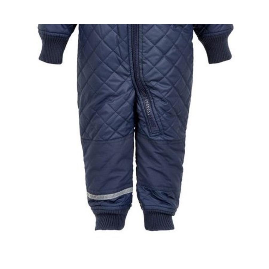 Water-repellent children's thermal coverall dark blue-3