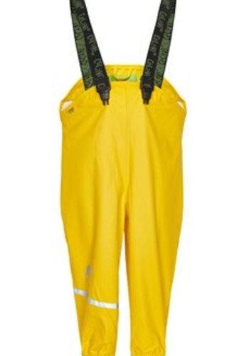 CeLaVi Yellow rain pants, waterproof dungarees