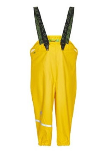 CeLaVi Yellow rain pants, waterproof dungarees