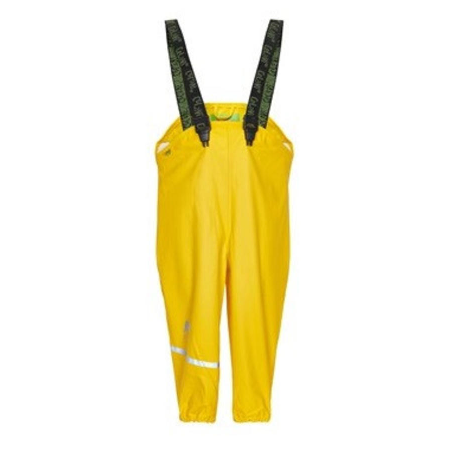 Yellow children's rain pants with suspenders 70-100-1