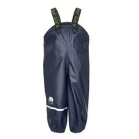 Rain pants, waterproof dungarees dark blue