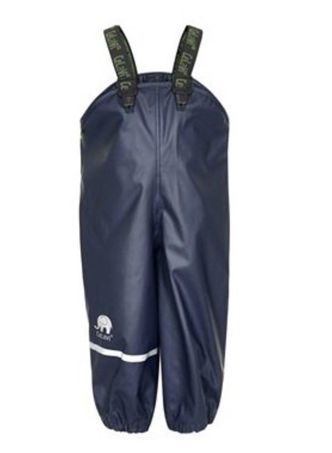 Navy regenbroek met bretels| blauw| 70-100