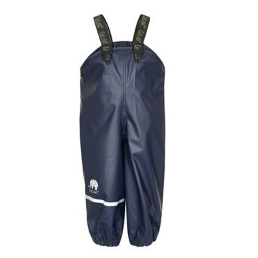 Rain pants, waterproof dungarees dark blue-1