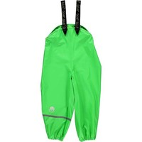 thumb-Lime green kids rain pants with suspenders | size 70-100-1