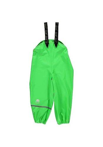 CeLaVi Lime groene regenbroek met bretels| 70-100