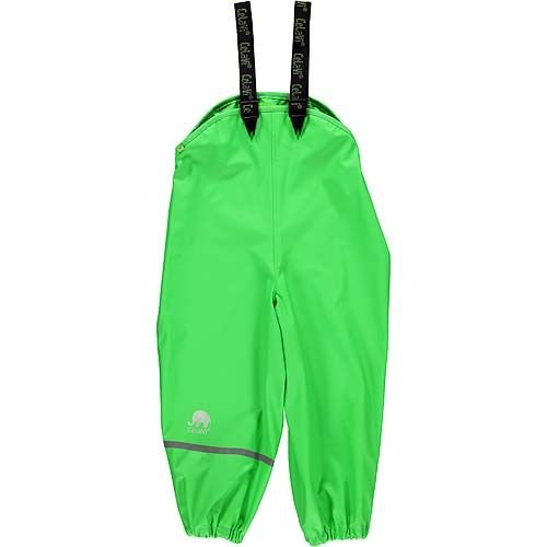 CeLaVi Lime green rain pants with suspenders 70-100