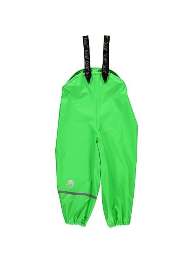 Lime green rain pants with suspenders 70-100