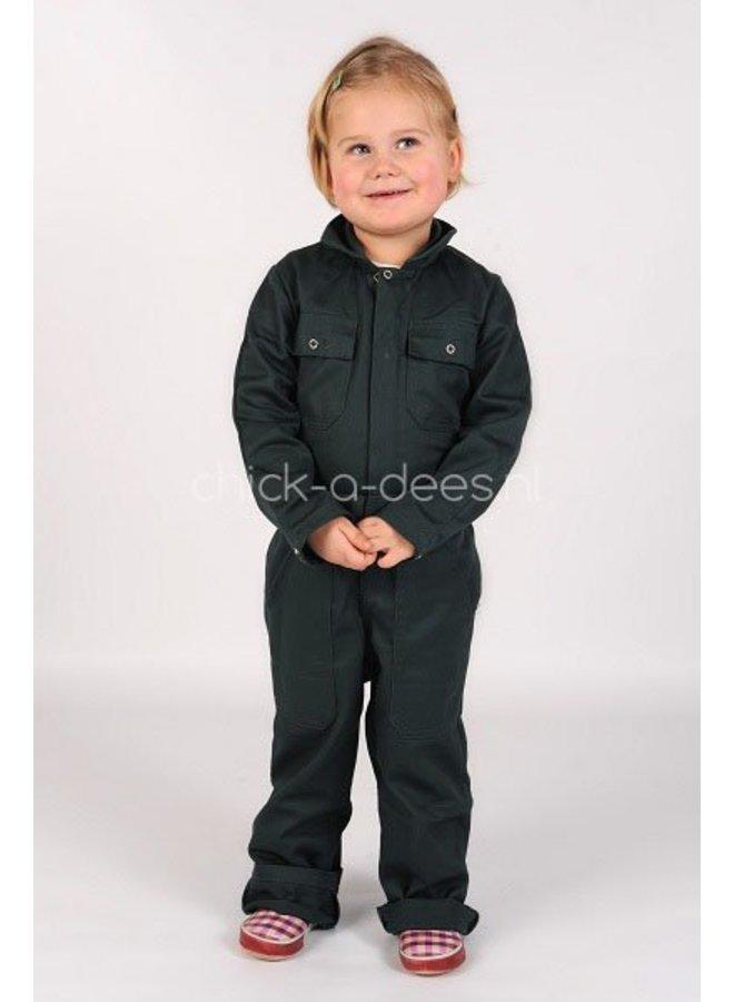 Children's overall in dark green