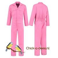 Roze overall voor dames en heren