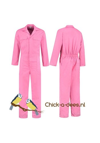 Pink overall for ladies and gentlemen