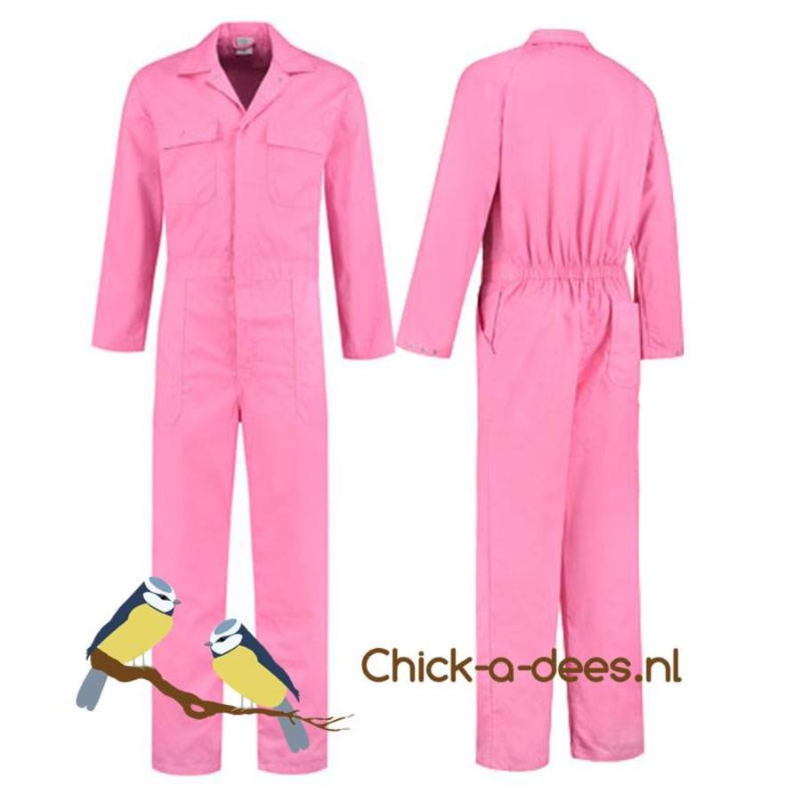 Roze overall voor dames en heren-1
