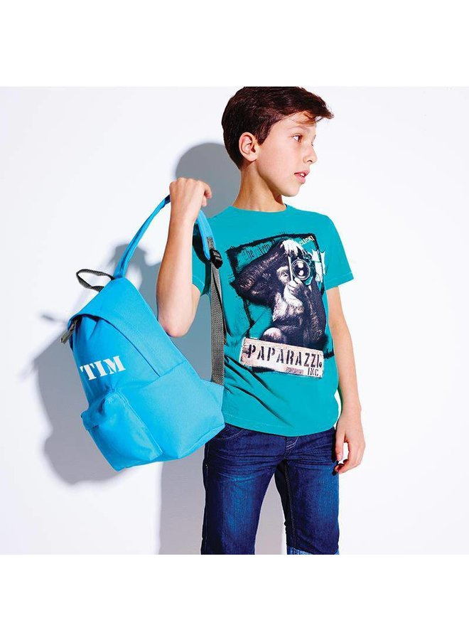 Junior backpack with name printing and horses