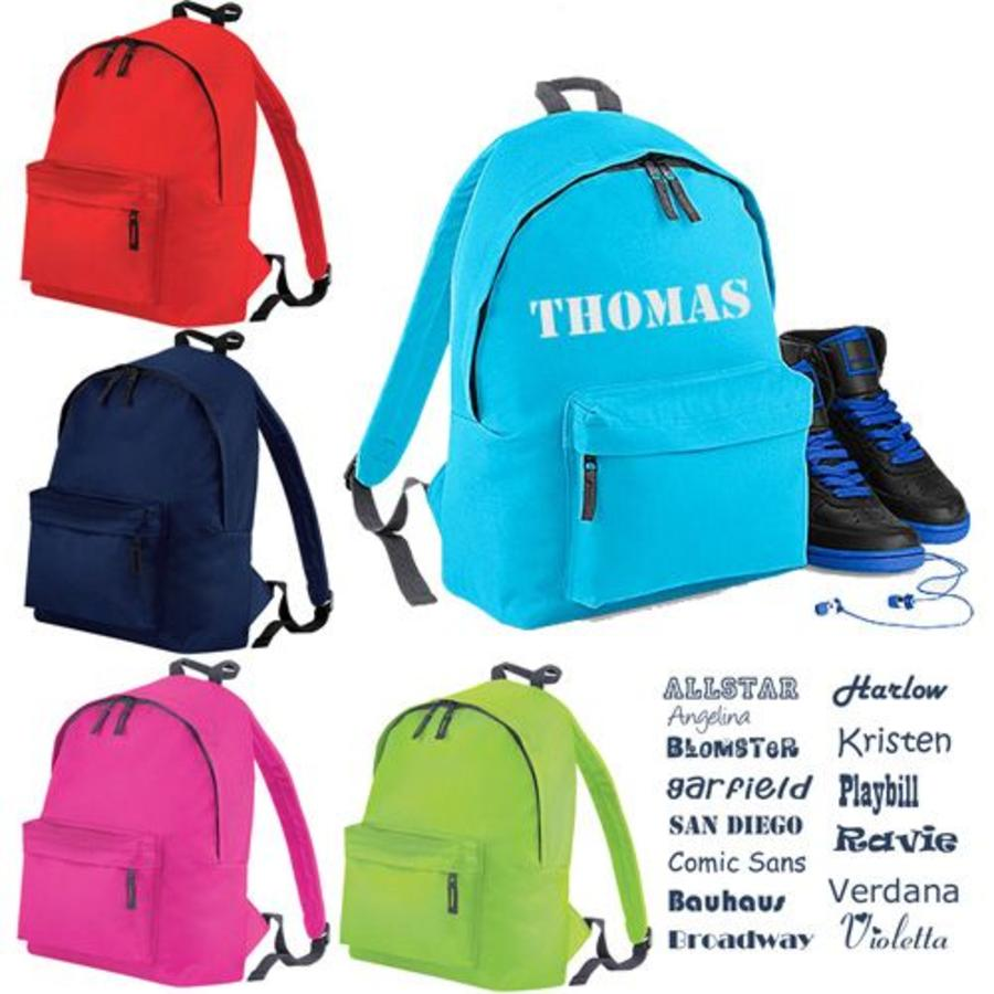 Junior backpack with name printing and horses-3