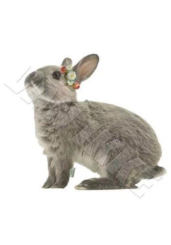 Vanikke Applicatie konijntje met bloemenkrans