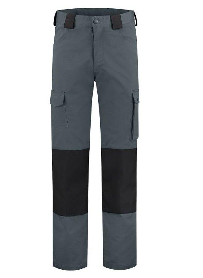 Basic werkbroek, worker voor kinderen in grijs/zwart