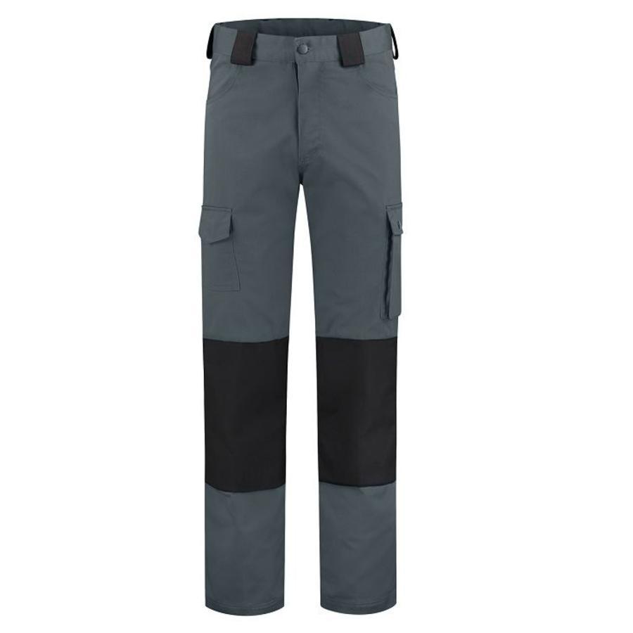 Basic werkbroek, worker voor kinderen in grijs/zwart-2