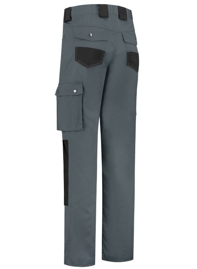 Basic work pants, worker for children in black /grey