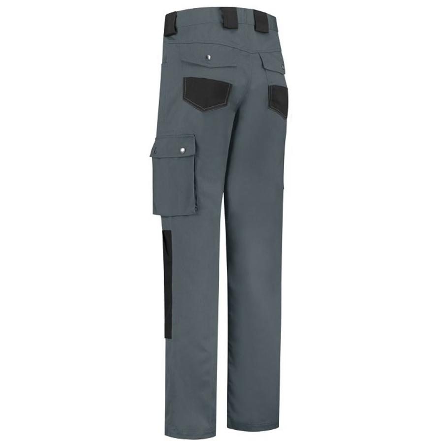 Basic work pants, worker for children in black /grey-4