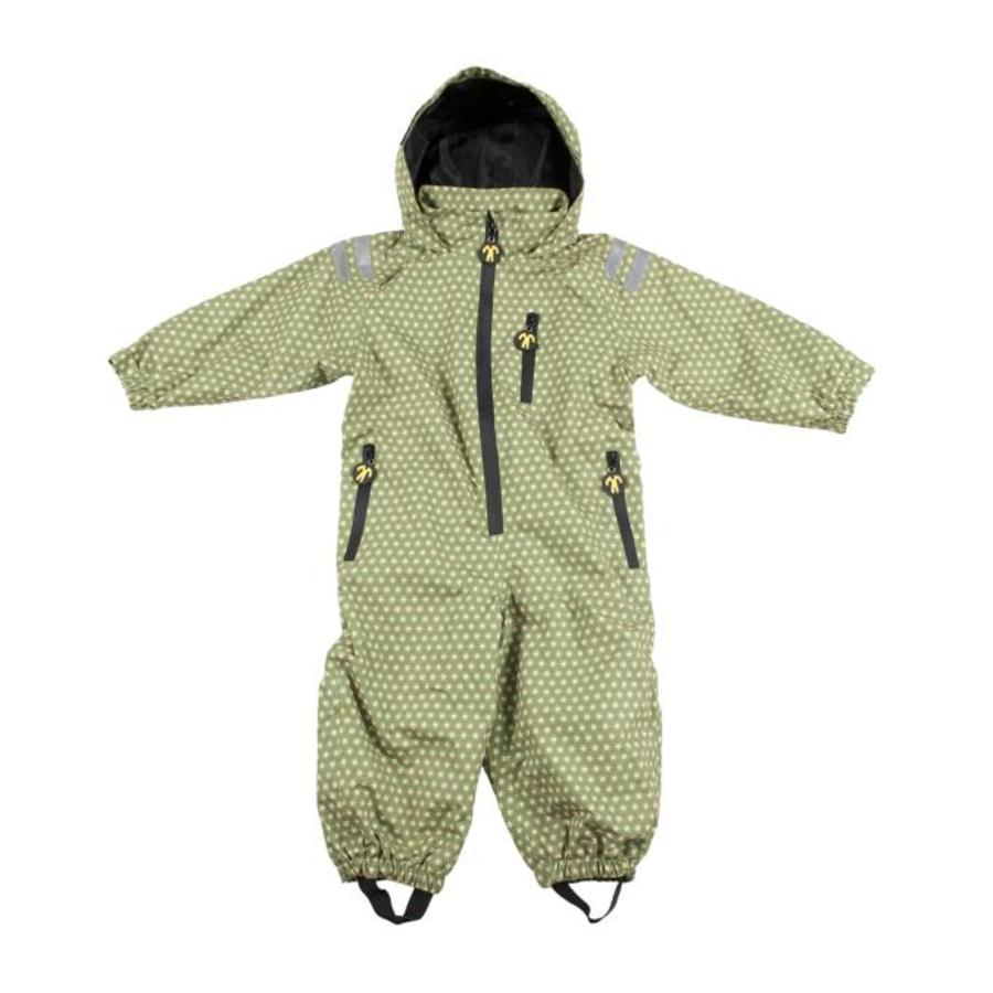 Durable children's rain suit - Funky Green-2