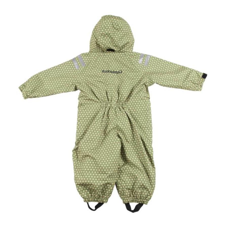 Durable children's rain suit - Funky Green-3