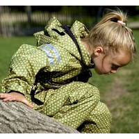 thumb-Durable children's rain suit - Funky Green-1
