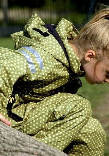 Ducksday  Durable rain suit - Funky Green 74-116