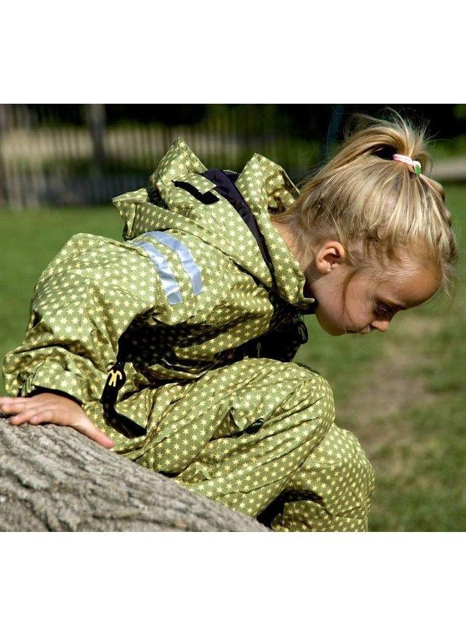 Durable children's rain suit - Funky Green