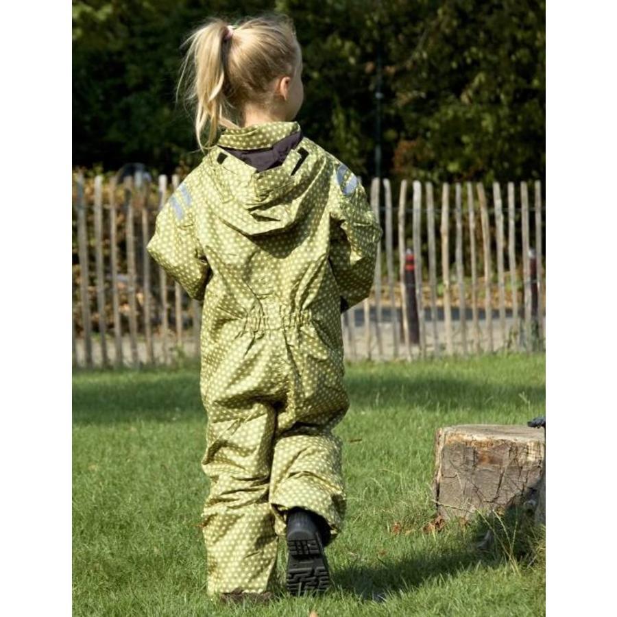 Durable children's rain suit - Funky Green-4