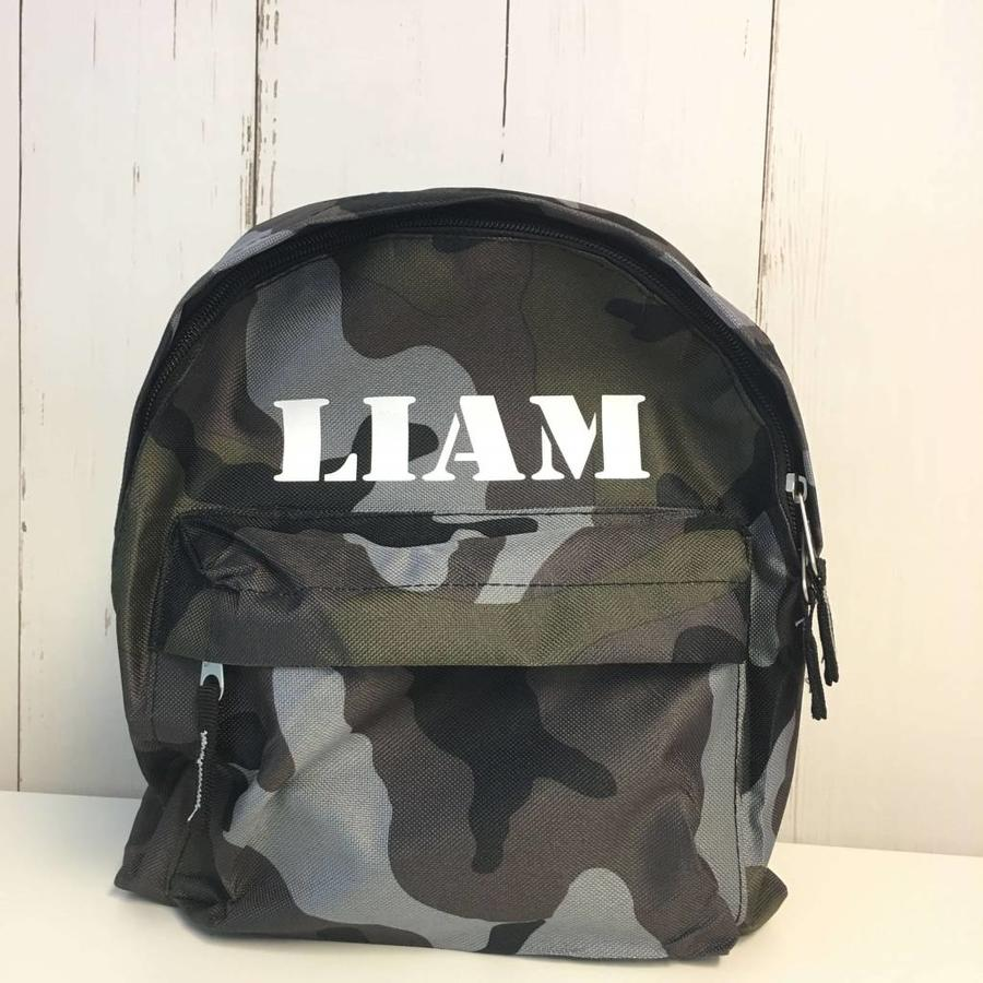 Camouflage backpack with name printing-1
