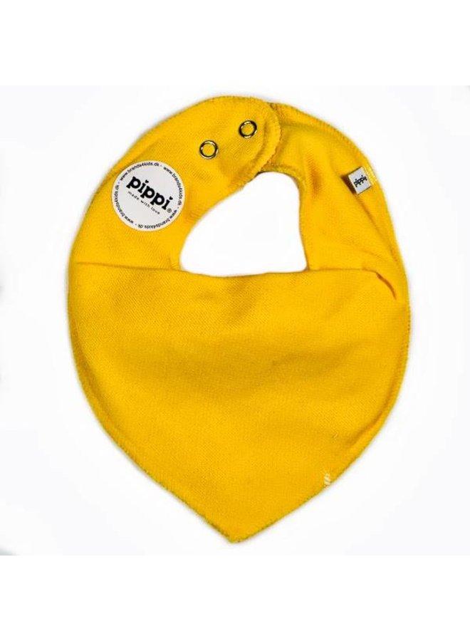 Drool bib, bandana bib yellow