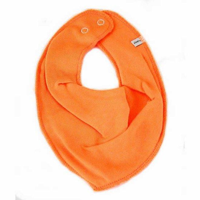 Drool bib, orange bandana