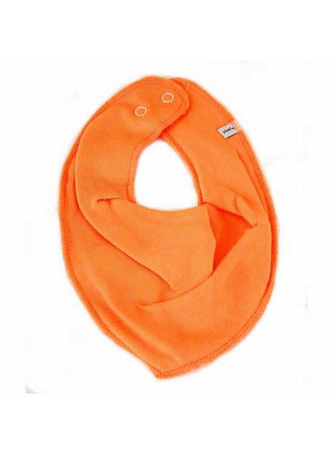 Drool bib, bandana bib orange