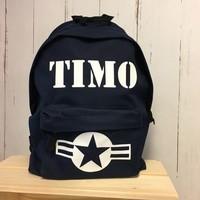 thumb-Backpack Stars & Stripes with name print-8