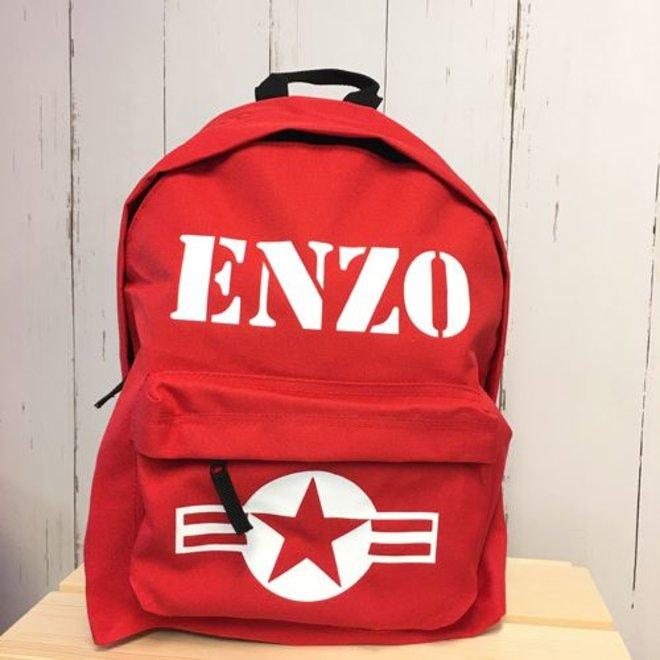 Backpack Stars & Stripes with name print