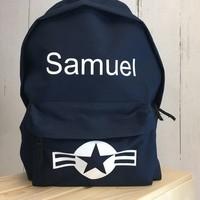 thumb-Backpack Stars & Stripes with name print-5