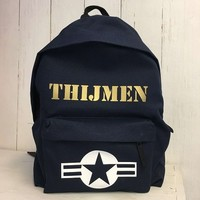 thumb-Backpack Stars & Stripes with name print-3