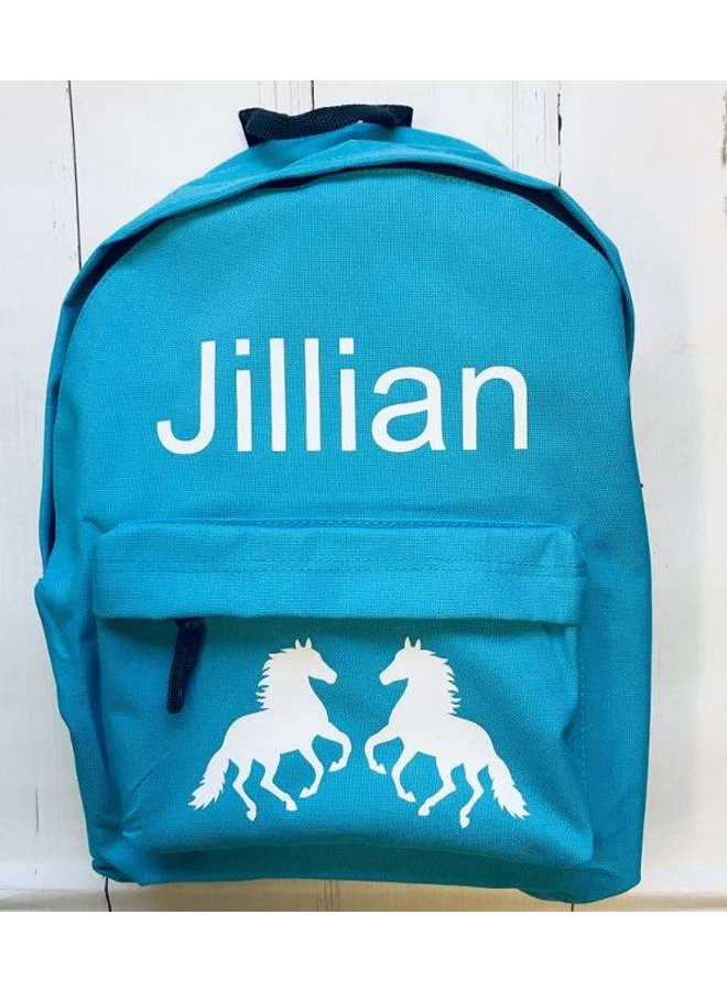 Junior backpack with name horses