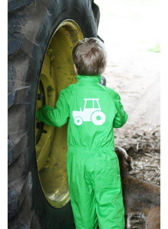 Bedrukte overall met tractor
