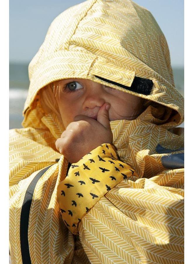 Duurzaam kinderregenpak Yellow Falcon| 74-116