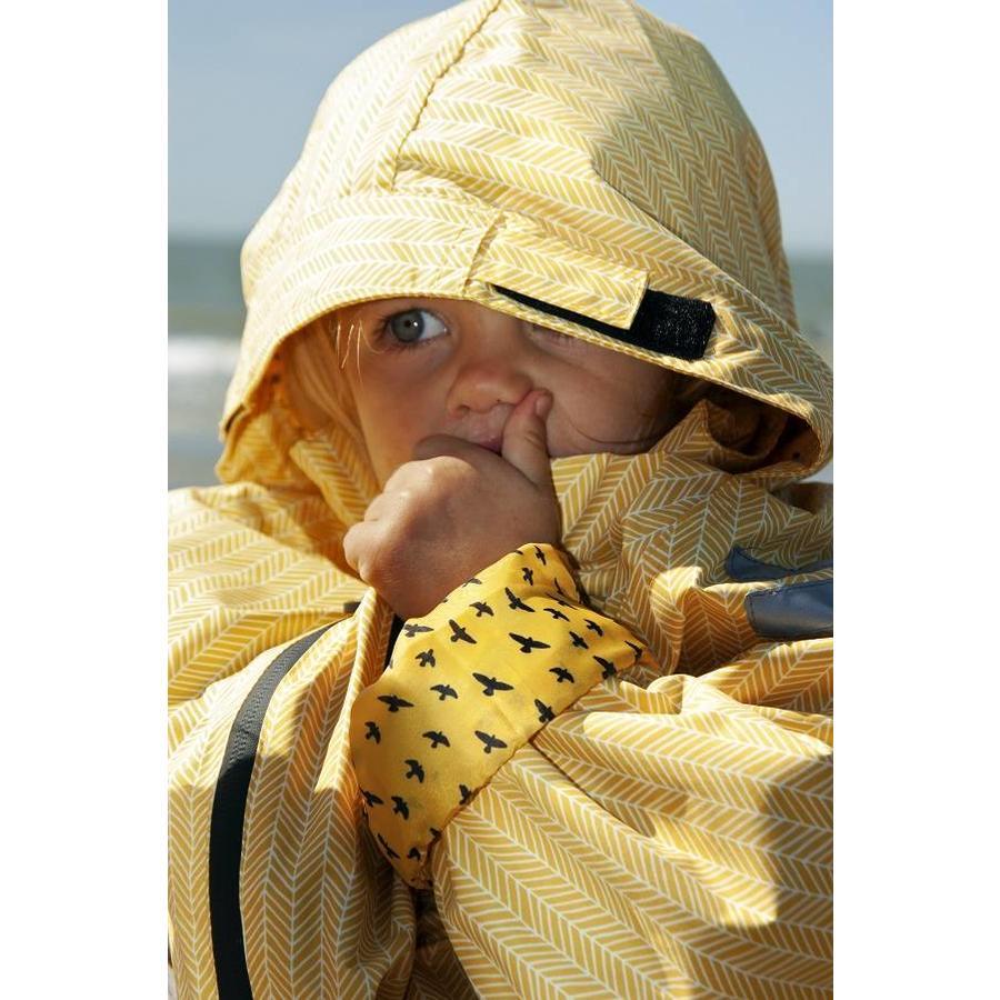 Duurzaam kinderregenpak Yellow Falcon| 74-116-2