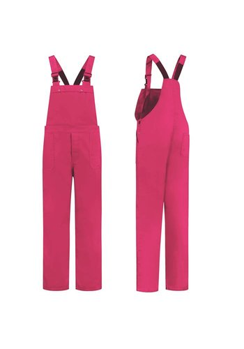 Fuchsia pink dungarees 280gr / m2